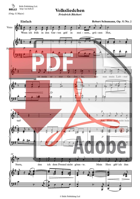 Volksliedchen, Op. 51, No. 2