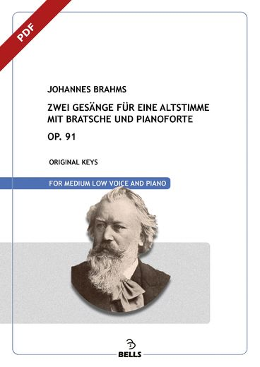 Brahms, Johannes: Two Songs for Voice, Viola and Piano, Op. 91
